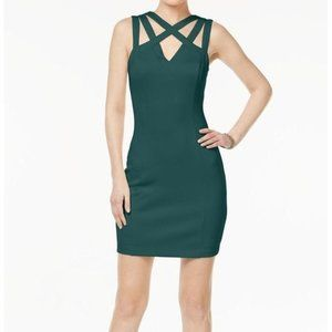 NEW WITH TAGS GUESS Emerald Green Cage Scuba Dress